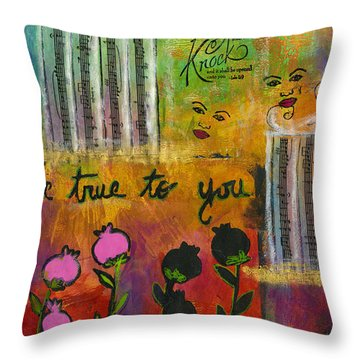 The Song Of My Own Belief Throw Pillow