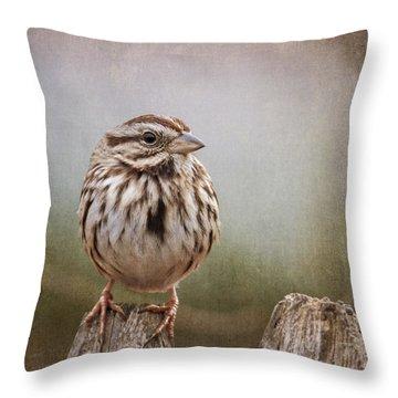 The Song Sparrow Throw Pillow