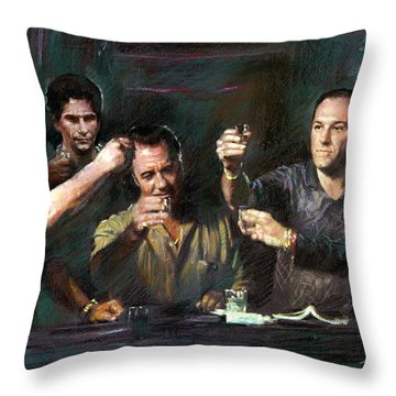 The Sopranos Throw Pillow by Viola El