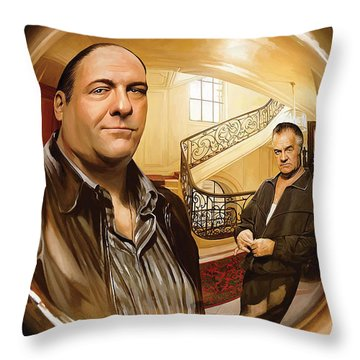 Throw Pillow featuring the painting The Sopranos  Artwork 1 by Sheraz A
