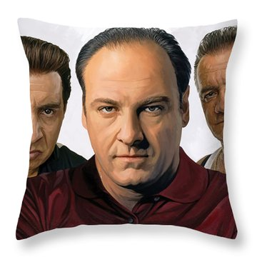 Throw Pillow featuring the painting The Sopranos  Artwork 2 by Sheraz A