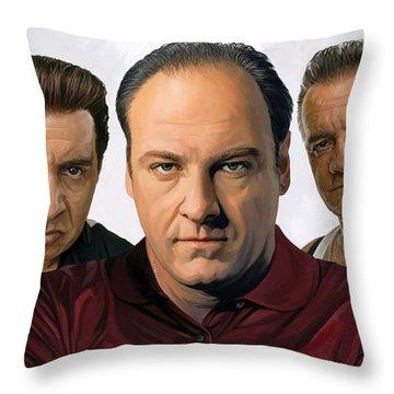 The Sopranos  Artwork 2 Throw Pillow