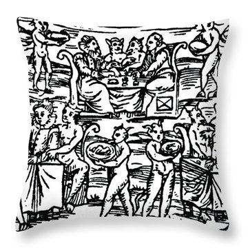 The Sorcerers Feast Throw Pillow