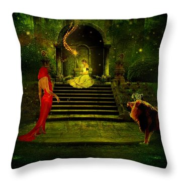 The Sorceress Throw Pillow by Amanda Struz