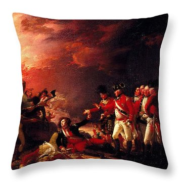 The Sortie From Gibraltar, 1788 Oil On Canvas Throw Pillow