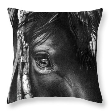 the Soul of a Horse Throw Pillow