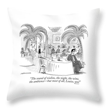 The Sound Of Violins Throw Pillow