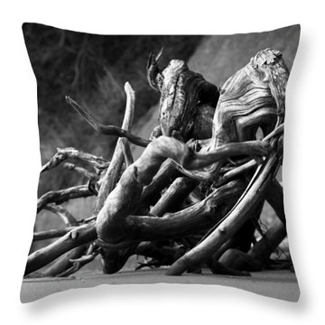 Throw Pillow featuring the photograph The Sound The Sea Makes by Rebecca Sherman