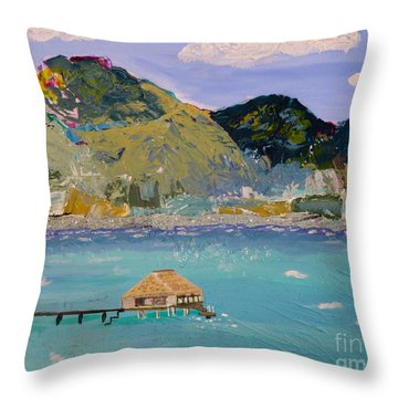 Throw Pillow featuring the painting The South Seas by Phyllis Kaltenbach