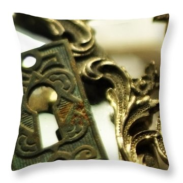 The Space Between Throw Pillow by Rebecca Sherman