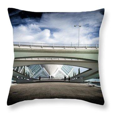The Spaceship Throw Pillow by Herbert Seiffert