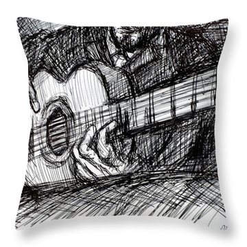 The Spanish Guitarist Throw Pillow
