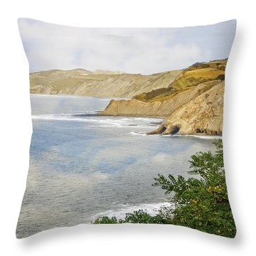 The Spanish North Coast Throw Pillow by Mary Machare