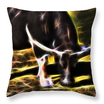 The Sparks Of Water Buffalo Throw Pillow