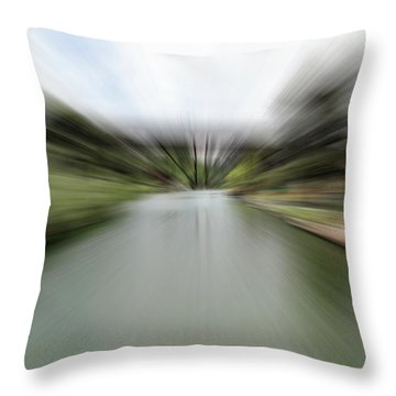 The Speed Of Calm Throw Pillow