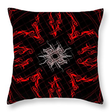 Throw Pillow featuring the painting The Spider's Web  by Roz Abellera Art