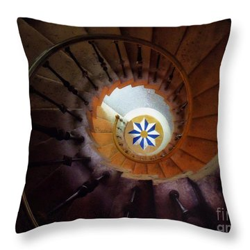 The Spiral Staircase Of Villa Vizcaya Throw Pillow by Mike Nellums