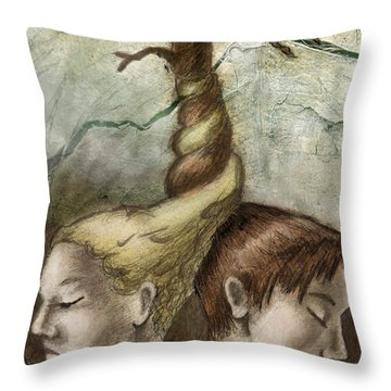 The Spirit And The Shadow Throw Pillow
