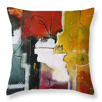 Throw Pillow featuring the painting The Spirit by Gary Smith