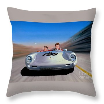 Throw Pillow featuring the painting The Spirit Lives by Michael Swanson