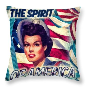 The Spirit Of America Throw Pillow by Mo T