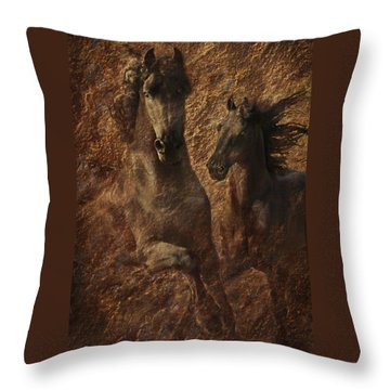 The Spirit Of Black Sterling Throw Pillow