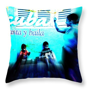 The Spirit Of Cuba And Cubans  Throw Pillow