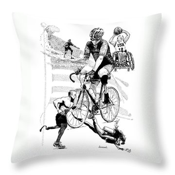 The Spirit Of Freedom Throw Pillow by Joseph Juvenal