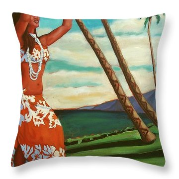 The Spirit Of Hula Throw Pillow