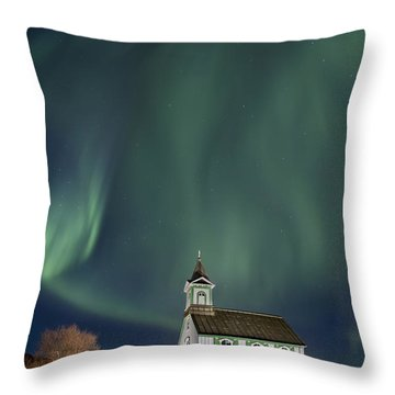 The Spirit Of Iceland Throw Pillow