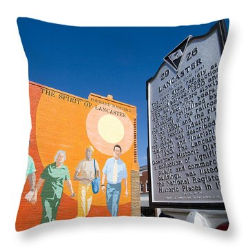 The Spirit Of Lancaster Throw Pillow