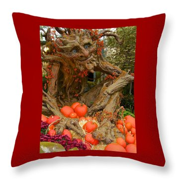 The Spirit Of The Pumpkin Throw Pillow