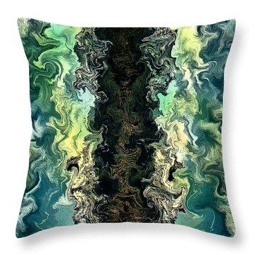 The Split By Rafi Talby Throw Pillow by Rafi Talby