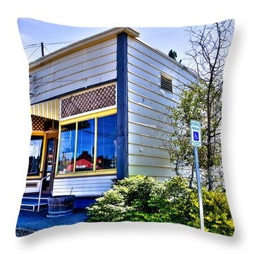 The Spot Shop Cleaners - Pullman Washington Throw Pillow
