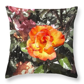 The Spring Rose Throw Pillow by Glenn McCarthy Art and Photography