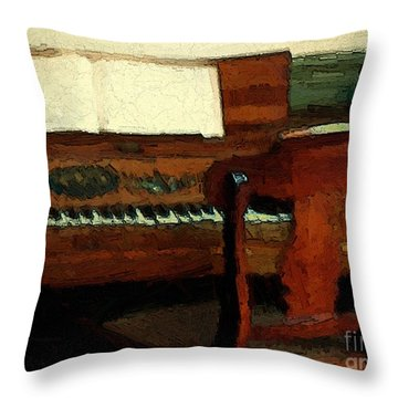 The Square Piano Throw Pillow by RC DeWinter