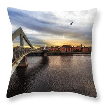 The Squiggly Bridge Throw Pillow by John Farnan