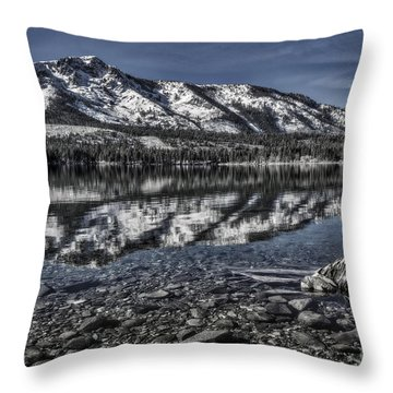 Throw Pillow featuring the photograph The Stump And The Mountain by Mitch Shindelbower