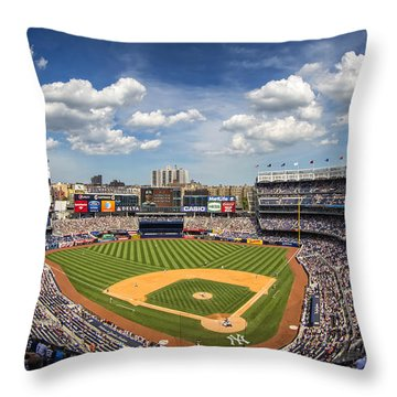 The Stadium Throw Pillow by Rick Berk