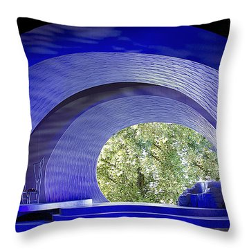 The Stage Throw Pillow by Elvira Butler