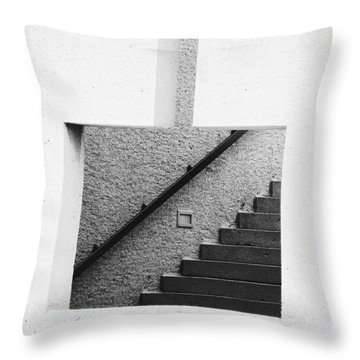 The Stairs In The Square Throw Pillow
