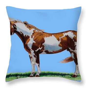 Mrparrmac-left Side Throw Pillow by Cheryl Poland