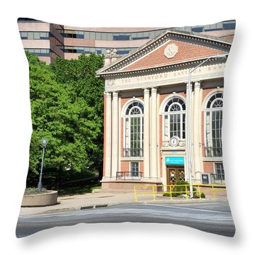 The Stamford Savings Bank Throw Pillow