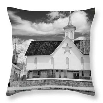 The Star Barn - Infrared Throw Pillow by Paul W Faust -  Impressions of Light