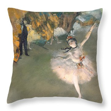 The Star Or Dancer On The Stage Throw Pillow by Edgar Degas