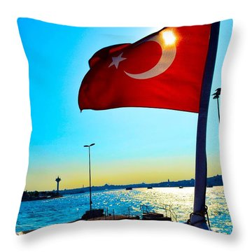 The Star The Moon And The Sun Throw Pillow