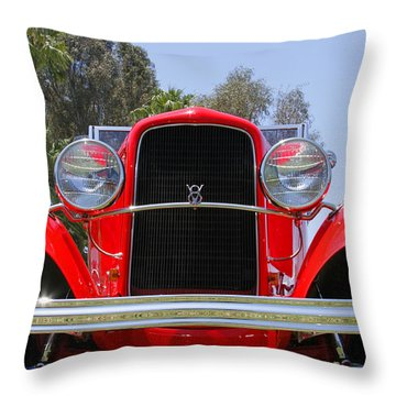 Throw Pillow featuring the photograph The Stare Of A V8 by Shoal Hollingsworth