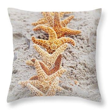 The Starfish Line Dance Throw Pillow