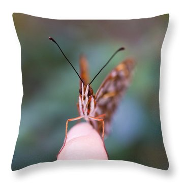 Throw Pillow featuring the photograph The Staring Contest by Priya Ghose