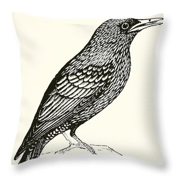 The Starling Throw Pillow by English School